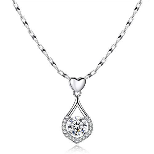 ZNZNN 999 Collar de Plata esterlina Collar de Plata Pendientes Collar, Regalos de cumpleaños/Regalo del día de San Valentín/Regalo del día de la Madre Regalo de Collar de Moda