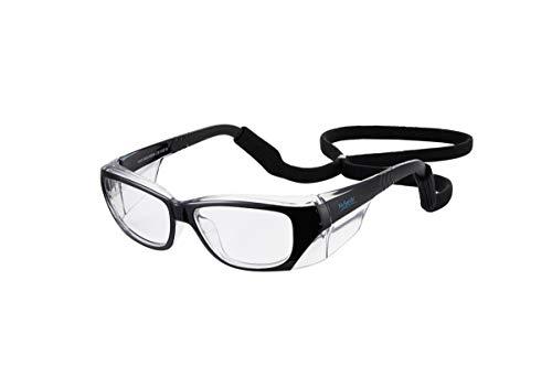 Mysandy Anti-Fog Eye Protection Medical for Men and Women Safety Glasses for Work Blue light Blocker, Anti Scratch ANSI Z87.1Small Size(BLACK)