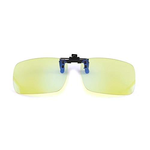Unisex Anti blauwe Ray Clip On Bril bijziend bijziendheid Night Vision Lens Computer Gaming blauw licht blokkerende brillen 210103 (Frame Color : 1)