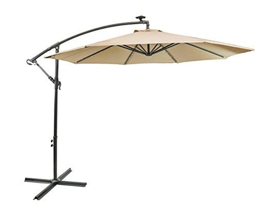 sun-ray cantilever patio umbrella