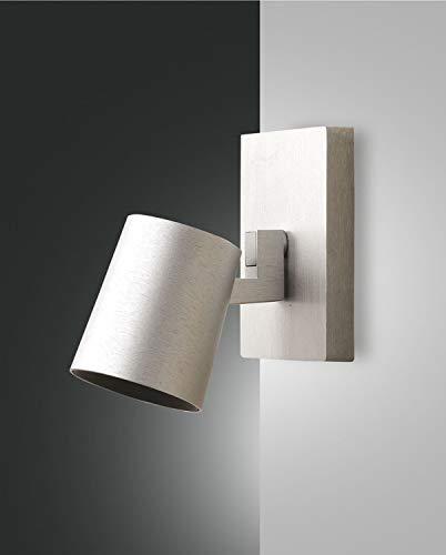 Fabas Luce 3451 – 81 – 212 lampe spot à mural façon aluminium brossé 35 W GU10