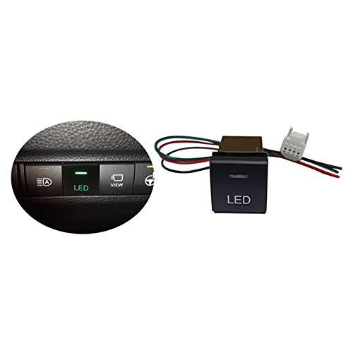 ZHANGJIN Botón de Interruptor de Coche Ajuste para Toyota Camry Corolla RAV4 2018 2019 2020 Fit for Land Cruiser Prado 150 Series Altis 2020 (Color : LED Button)