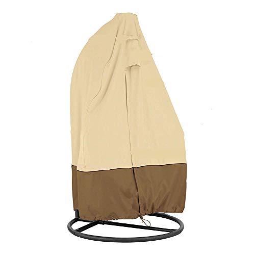 SlimpleStudio Conjuntos de Mueble,210D Oxford paño Columpio al Aire Libre Silla Colgante cáscara de Huevo Cubierta de Polvo Beige-El 115x190cm