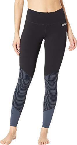 2XU Damen Fitness Mid-Rise Tights-Wa5389b Kompressionsstrümpfe S Black/Outer Space Stripe