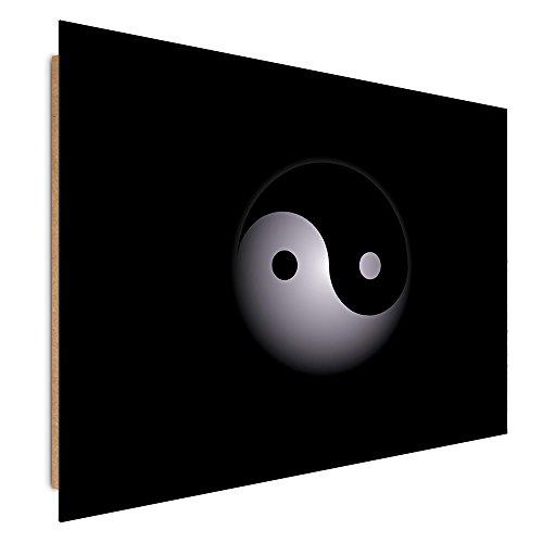 Feeby. Tableau - 1 Partie - 40x50 cm, Décoration Murale Image Imprimée Deco Panel, Yin ET Yang, Noir ET Blanc