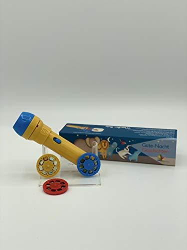 Moulin Roty MR658360 Projektortaschenlampe für Kinder, Diashow mit Tiergeschichten, Mehrfarbig