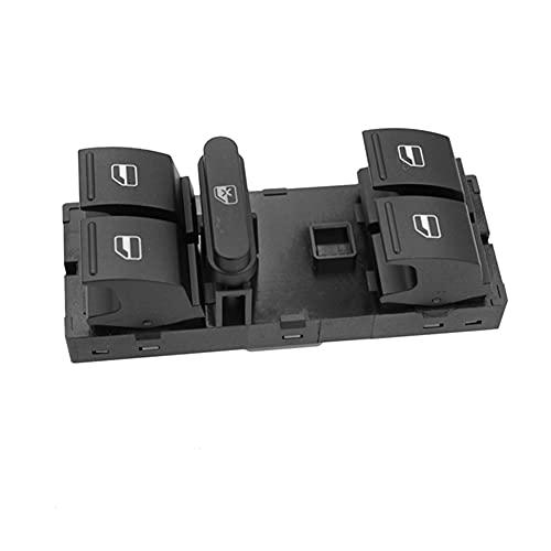 Botón del Interruptor de la Ventana del Maestro de energía eléctrica del automóvil, Compatible con VW Jetta Golf MK5 MK6 Passat B6 B7 CC TOURAN TIGUAN TIGUAN Golf Plus Seat 1K4959857B (Color : 1pcs)