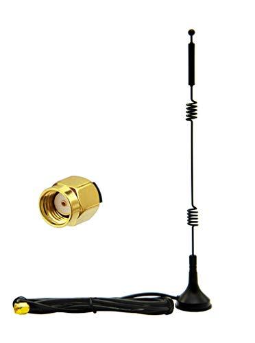 Vecys Antena WiFi 2.4G / 5G / 5.8G Doble Frecuencia 12 dBi MIMO Base Magnética Omnidireccional Adaptador RP-SMA 1.5m 4.9 Pies para PCIE Tarjeta WiFi Router Tarjeta de Antena Externa Inalámbrica
