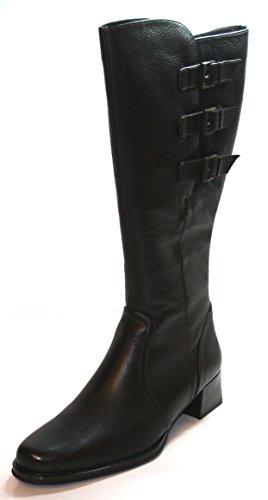 Theresia M. 58520 Damen Lederstiefel Damenschuhe Damen Leder Stiefel Varioschaft Mocca EU 39 UK 6