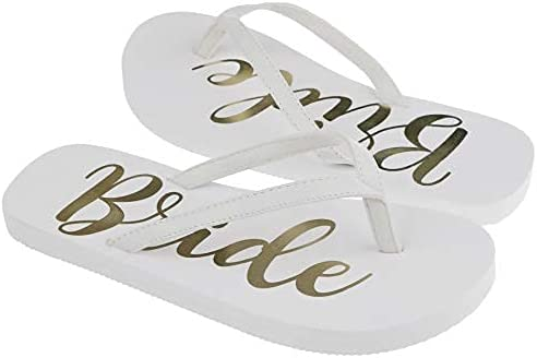 Capelli New York Foil Bride EVA Flip Flops Gold 9