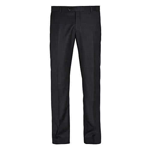 Benvenuto Black - Modern Fit - Herren Baukasten Hose aus Super 110'S Schurwolle in Schwarz und Dunkelblau, Niven (20841, Modell: 62638)
