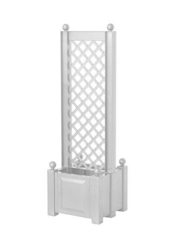 KHW 37401 Pflanzkasten mit Zentral-Spalier 43 cm, weiß