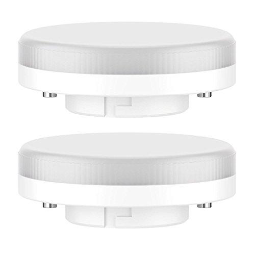 ledscom.de GX53 LED Leuchtmittel 6.3W=40W 450lm 100° warm-weiß, 2 Stk.