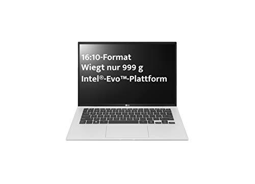 LG Gram 14 Zoll Ultralight Notebook - Unter 1 kg Leichter Intel Core i7 Laptop (16GB LPDDR4 RAM, 1 TB SSD, bis zu 25,5 h Akkulaufzeit, WUXGA IPS Display, Thunderbolt 4, Windows 10 Home Plus) - Silver