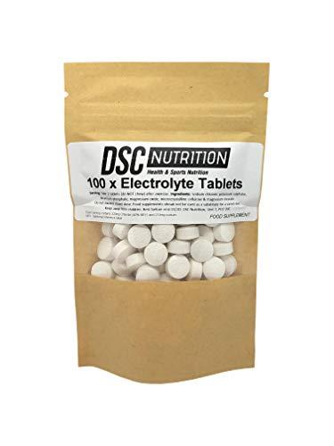 Elektrolyt - Zout Vervangende Tabletten x 100 -Vegan - door DSC NUTRITION