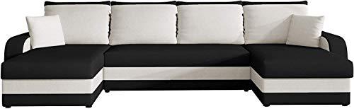 Ecksofa Kristofer U, Design Eckcouch Couch mit Schlaffunktion! DREI Bettkasten! Wohnlandschaft! Bettfunktion! U-Form Sofa! Seite Universal! Farbauswahl! (Mikrofaza 0015 + Mikrofaza 0031.)