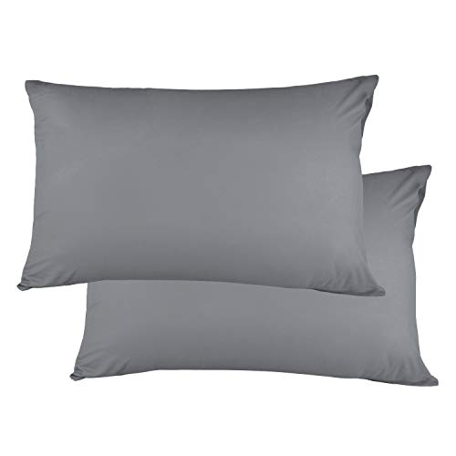 Kissenbezug kissenhülle Kopfkissenbezug Bettkissenbezug Pillowcase, Adoric  [2er Set] Kissenbezug 100% Mikrofaser, 50 cm x75 cm.(Grau)