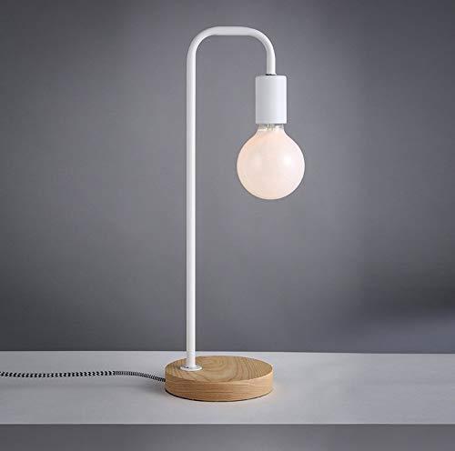 Antike Art Industrial Iron White Laterne Schreibtischlampe, 40W LED Blub enthalten,