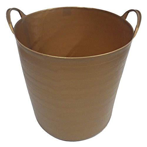 Capazo de plástico reciclado (42 litros, Oro)