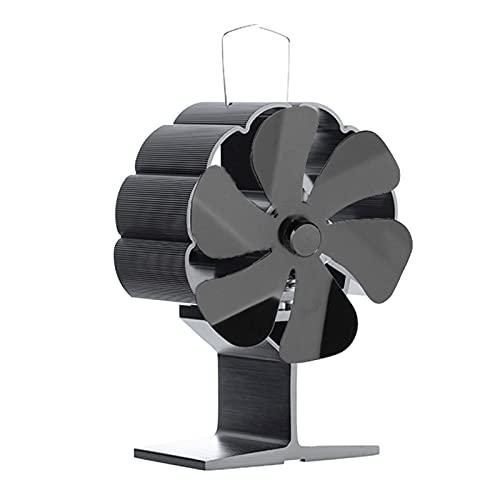 MERIGLARE Madera de La Fan de La Chimenea de 6 Cuchillas/Fan Ardiente Eco del Ventilador de La Estufa de Los Registros Amistoso