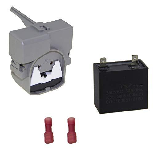 W10189190 TSD2 Start Device Combination & W10662129 Compressor Run Capacitor for Whirlpool Refrigerator & Freezer W10197428 241941003 W2319792