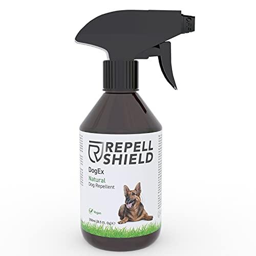 RepellShield - Veganes Hunde Abwehrspray ideal als Alternative zum Hundeschreck und Katzenschreck für Hunde, Sanfte Hundeabwehr mit unserem harmlosen Hundeschreck Spray, Fernhaltespray Hunde - 250ml