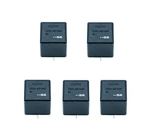 M&E 5 Piezas Relé para Coche 12V 40A 5 Pin, Relé para automoción, Interruptor del Coche del vehículo, Truck Van Barco Automotive, Furgoneta, Relay…