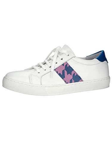 Wenz Sneaker mit modischem Hahnentritt-Muster Weiß