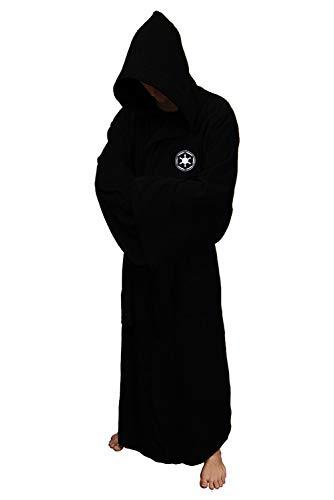 Mesodyn Adult/Kids Robe Halloween Cosplay Bathrobe (Adult Size, Black Jedi)