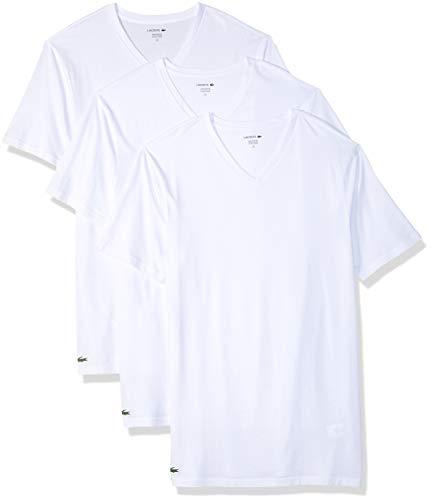 Lacoste Herren Ram8801 Unterhemd, Weiß (White 100), Small