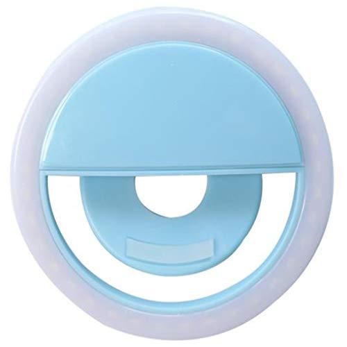 De draagbare led-lamp clip fotografisch foto-smartphones selfie ring lichtflits lens schoonheid