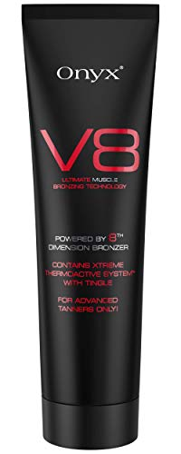 Onyx V8 Dark Indoor Tanning Lotion with Tingle Factor Bronzer - Hot Tanning Bed Lotion