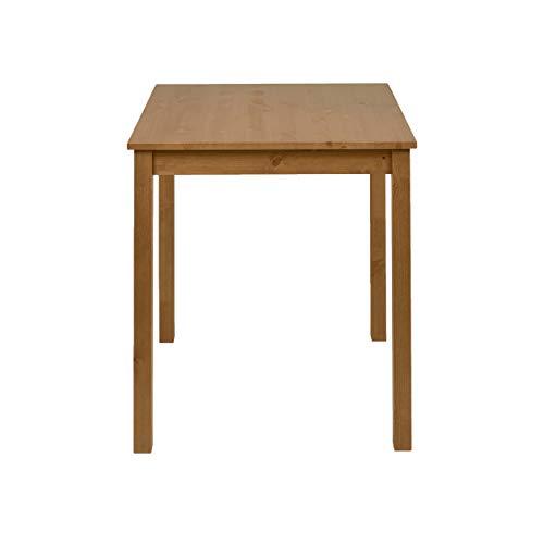 hagge home Esstisch Küchentisch Klein Tisch Wohnzimmer Nordisches Kiefernholz Massivholz, Holz Aus Nachhaltiger Waldwirtschaft, 68x68 cm, Höhe 75 cm, Braune Eiche