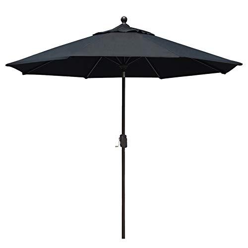 EliteShade Sunbrella 9Ft Market Umbrella Patio Outdoor Table Umbrella with Ventilation and 5 Years Non-Fading Top,Black