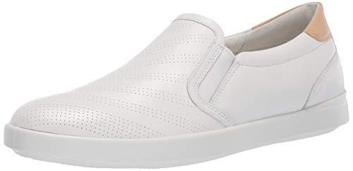 Ecco Damen LEISURE Slip On Sneaker, Weiß (White/Powder 59529), 39 EU