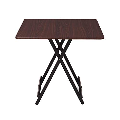 JIAYIBAO Walnut Color Dining Table 4-Seater Office Dining Room Home Furniture Wooden Modern Kitchen Folding Table (Table Only)