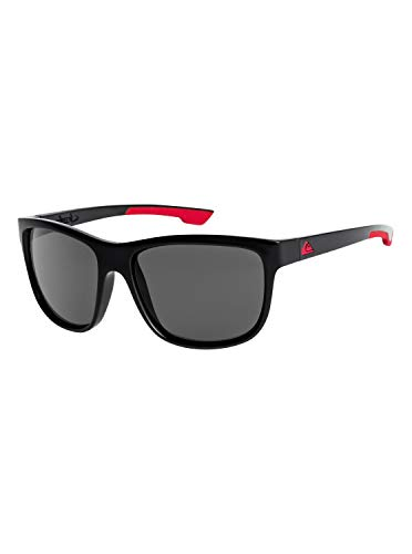 Quiksilver Crusader-Gafas De Sol para Hombre, Black/Black/Grey-Combo, 1Sz