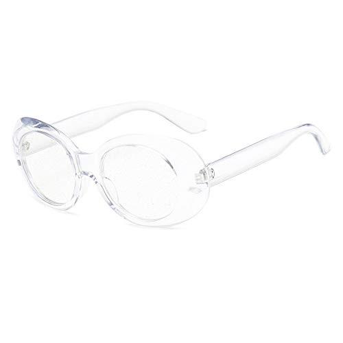 MOJINGYAN Gafas De Sol,2019 Clara Gafas De Sol Mujer Retro Vintage Neff Oval Pequeña Hombres Gafas Gafas De Sol Claro