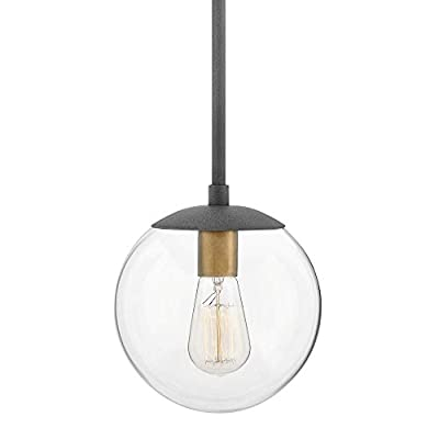 Hinkley 3747DZ Warby - One Light Pendant, Aged Zinc Finish