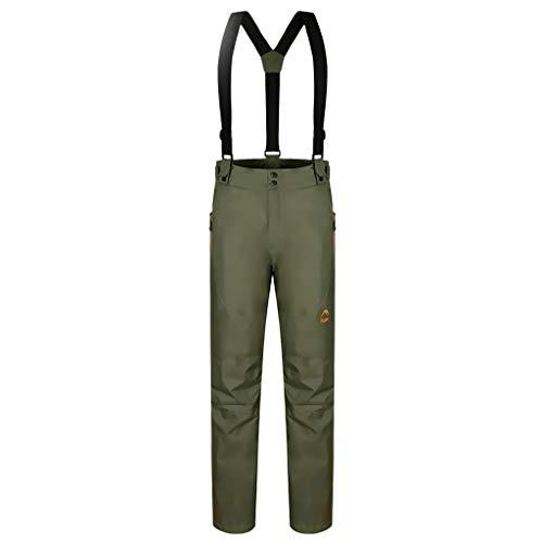 MagiDeal Pantalon de Ski Homme - Déperlant, Taille réglable, Bretelles détachables, Poches - Idéal pour Ski et Vacances - Vert, L