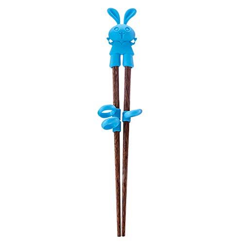 Comtervi - Palillos para niños principiantes, palos de madera para entrenamiento, palos de chops para niños mayores y herramientas de entrenamiento de silicona, 1 par