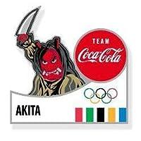 聖火リレー 東京オリンピック ピンバッジ 秋田 コカ・コーラ ピンバッチ