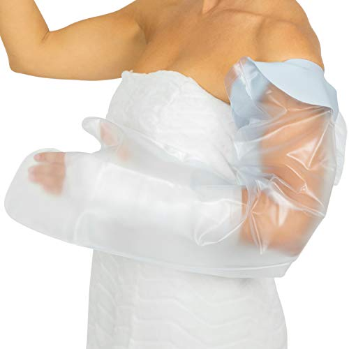 Vive Arm Cast Protector for Shower - Waterproof Bandage Cover for Bath - Adult Water Resistant Reusable Dry Bag Sleeve for Broken Hand and Wrist- Watertight Protection - Tight, Universal Seal
