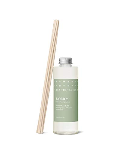 Skandinavisk FJORD Scent Diffuser Refill with 8 Reeds. Fragrance Notes: Apple and Pear Blossom, Orchard Fruits and Redcurrants. 200 ml