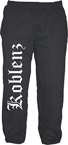 Koblenz Pantalones de chándal – alemán antiguo – Pantalones de chándal – Jogger – Pantalones Negro S