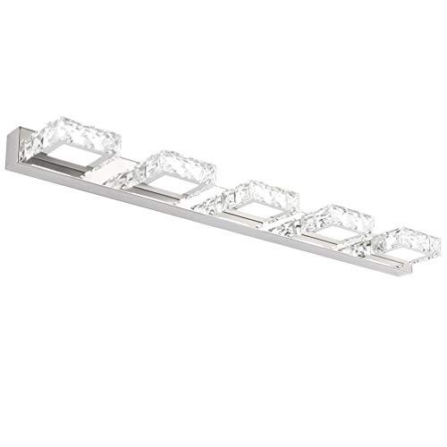 Klighten LED Lámpara de Espejo, 15W Aplique Espejo Baño LED Interior Blanco frío 5500K Iluminación de Bañera, Lámpara Cuarto de Baño Impermeable IP44