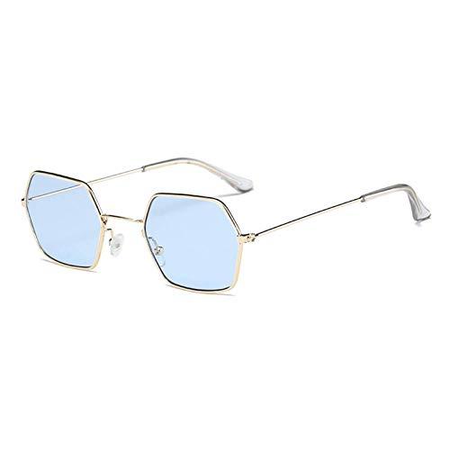 CHJKMN Gafas de sol unisex cuadradas de la vendimia gafas de sol famosas gafas de sol cuadradas retro para mujeres hombres