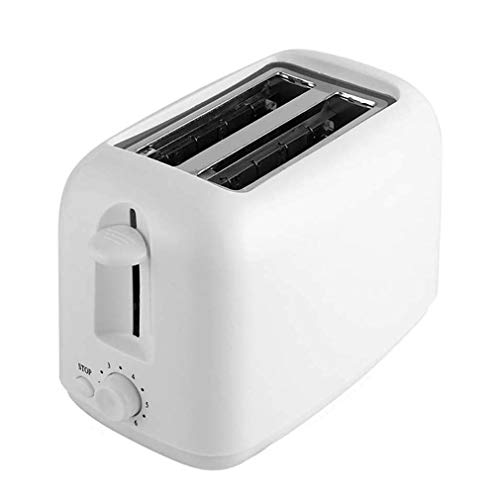 IhDFR Toaster, Compact Toaster Oven Best Rated Prime with 6 Variable Browning Control Bread Baking Machine Removable Crumb Tray for Sandwiczh Toast -White
