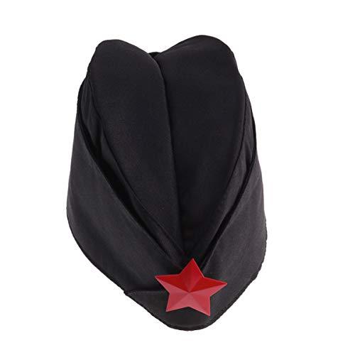 Toyvian Traje de la Marina de Guerra Sombrero de Marinero Ruso Cosplay Star Cap Party Dance Accesorios Unisex