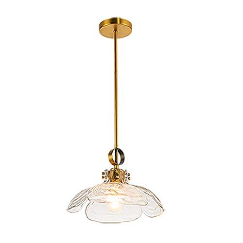 WEM Araña decorativa novedosa, lámpara colgante de cristal creativa de una sola cabeza. Estilo minimalista moderno, pequeña lámpara de araña. Luminarias decorativas para cafés, pasillos y restaurante